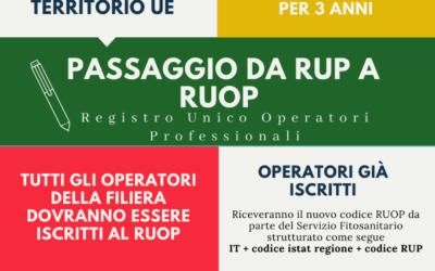 Infografica su Passaporto delle piante e passaggio al RUOP 2019